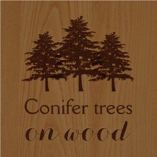 Trees on wood