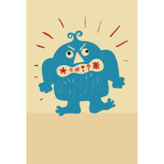 """""""Angry Blue Monster Poster Print"""""""