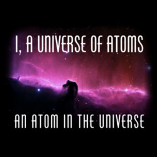 I, a Universe of Atoms.  An Atom in the Universe