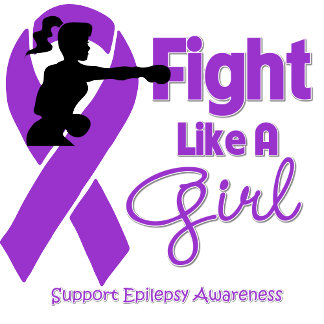 Epilepsy Fight Like A Girl Knock Out