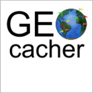 Geocacher Earth with Flags