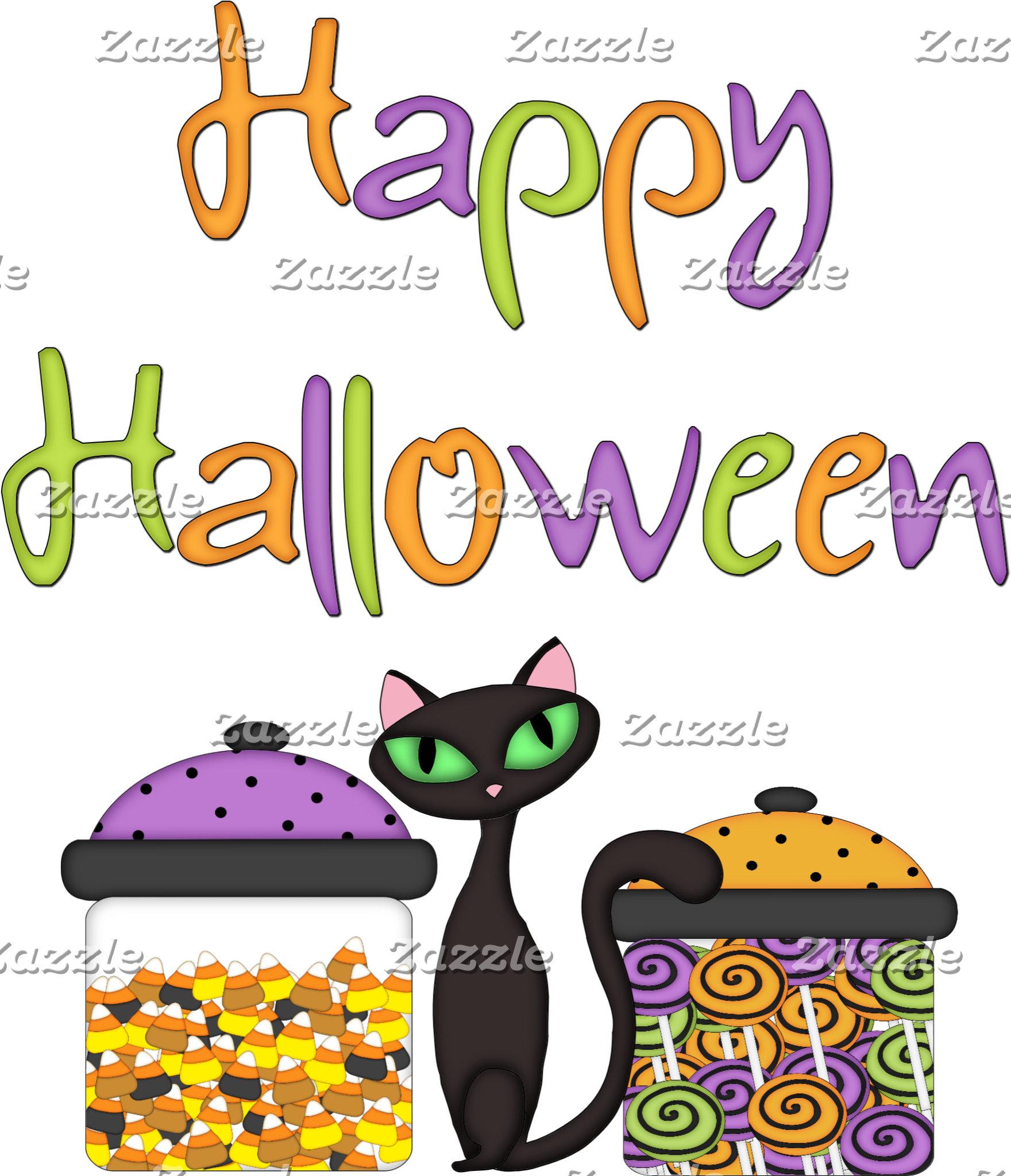 A Halloween Candy Black Cat