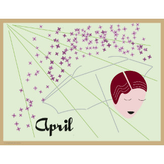 Art Deco Months of the Year