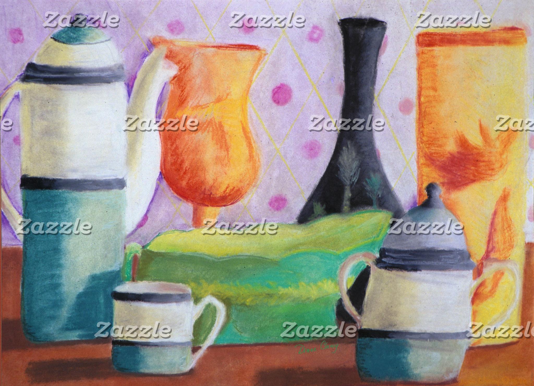 Bottlescape II - Abstract Alice Tea Party