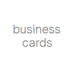 * BUSINESS CARDS