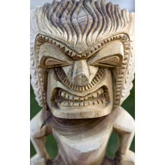 Polynesia, Kingdom of Tonga. Close-up of tiki
