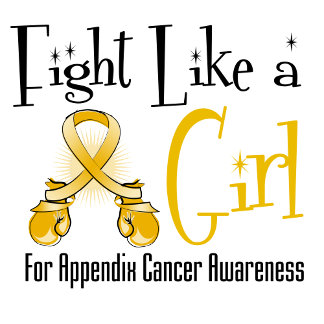 Appendix Cancer Cool Retro Fight Like a Girl