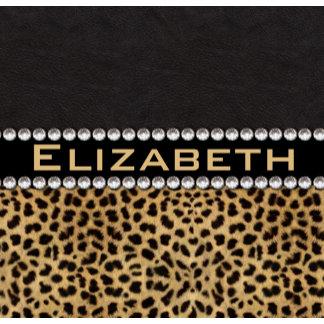 Leopard Spot Rhinestone Diamonds Monogram Gifts