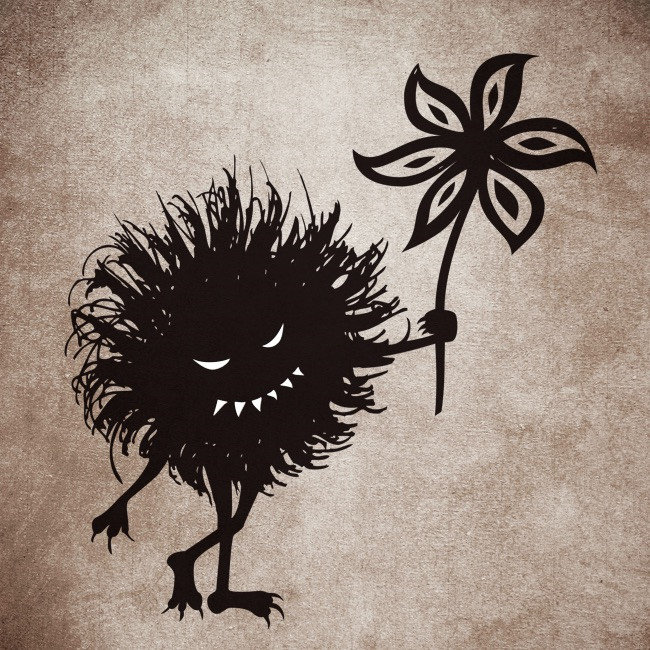 Evil Bug Gives Flower