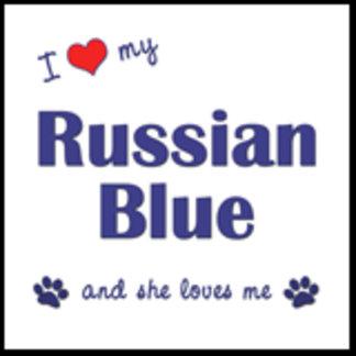 I Love My Russian Blue (Female Cat)