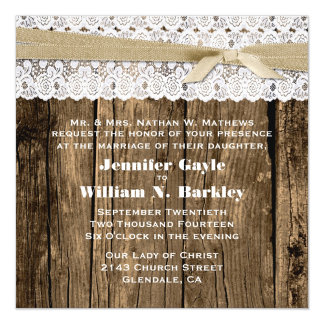 Rustic Wood and Lace Wedding Products