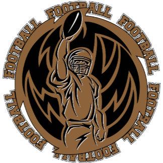 Football Tribal Brown Logo