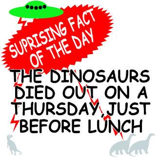 Funny alien Tshirts-fun dinosaur extinction theory