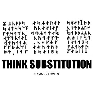 Think Substitution (Runic Cryptogram Jules Verne)