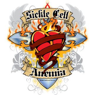 Sickle Cell Anemia Cross & Heart