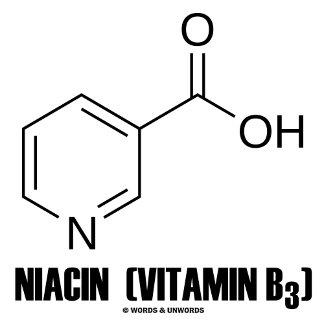 Niacin (Vitamin B3) Chemical Molecule