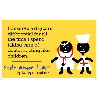 I deserve a daycare differential for all the...