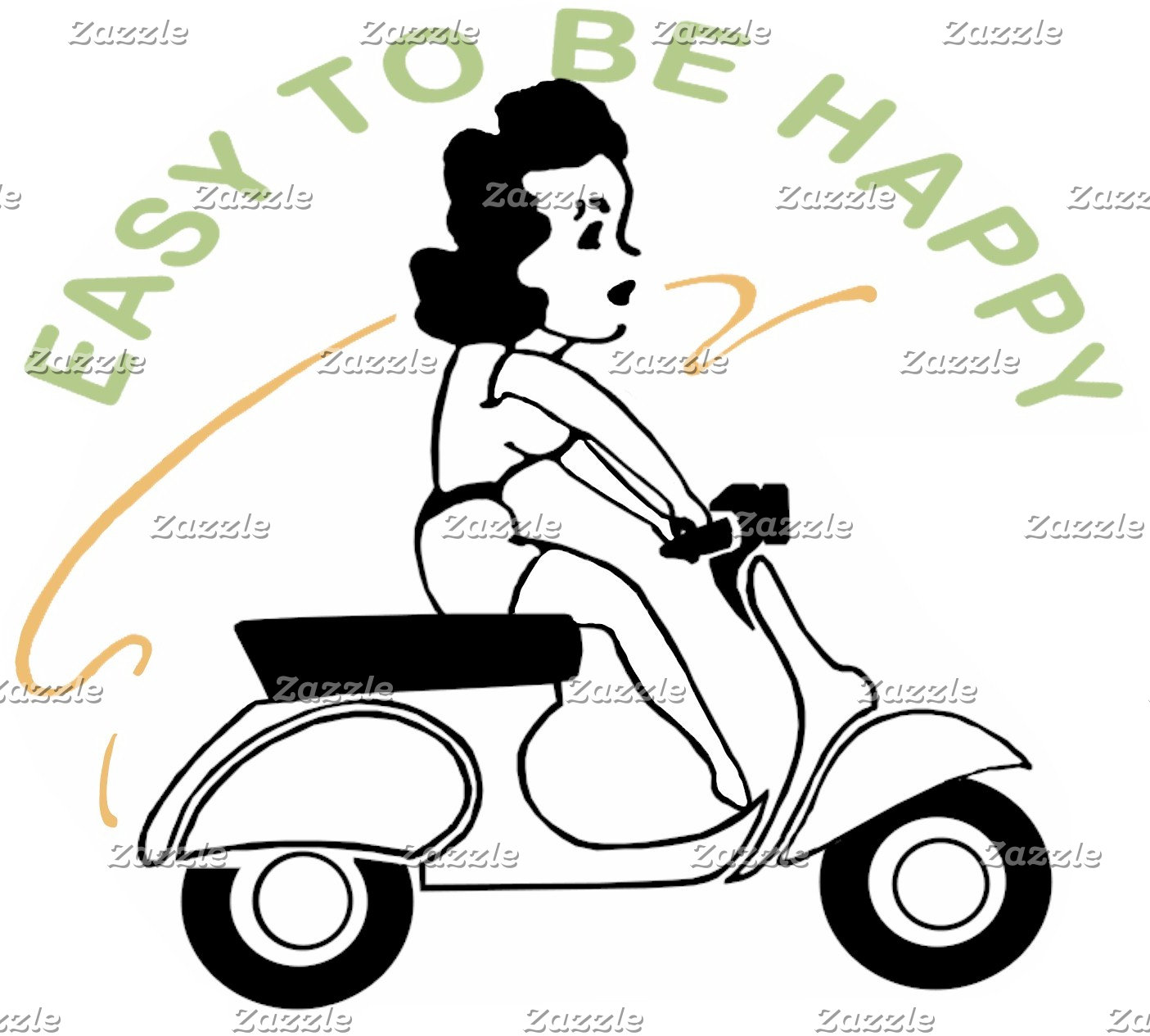 Easy To Be Happy - Vintage Scooter