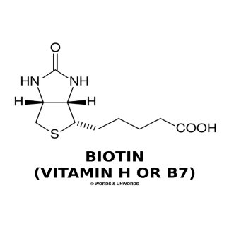 Biotin (Vitamin H Or B7) Chemical Molecule