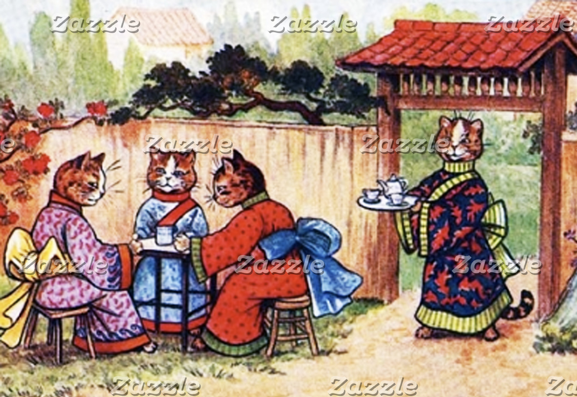 KImono Cats Have Tea