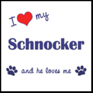 I Love My Schnocker (Male Dog)