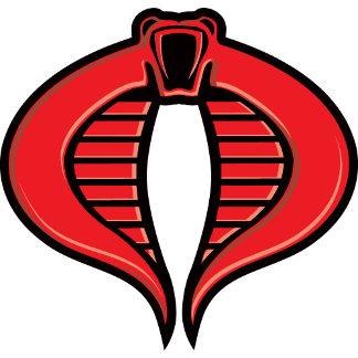 Cobra Black and Red Badge