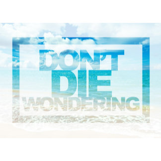 Don't Die Wondering - Motivational Quote