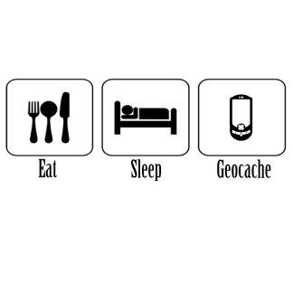 Eat, Sleep, Geocache