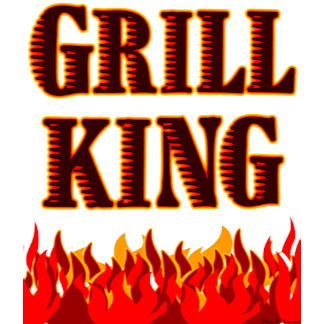 Grill King Red Flames Funny BBQ Saying