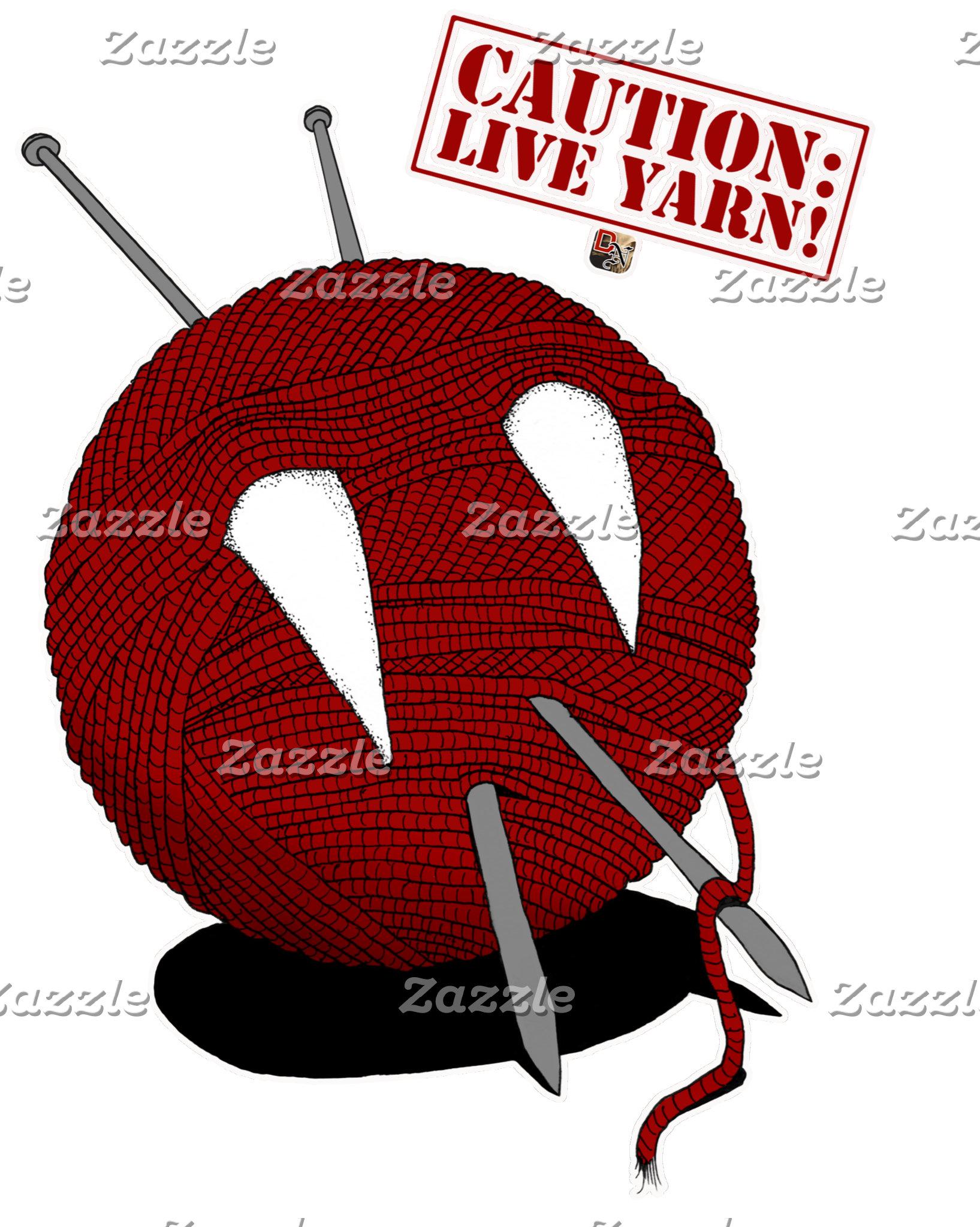 Caution: Live Yarn! Fangs