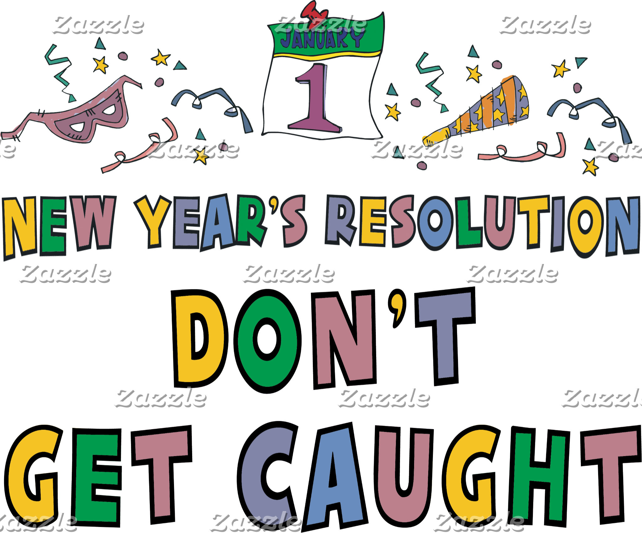 New Year Resolutions Funny T-Shirt