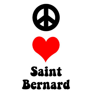 Peace love Saint Bernard
