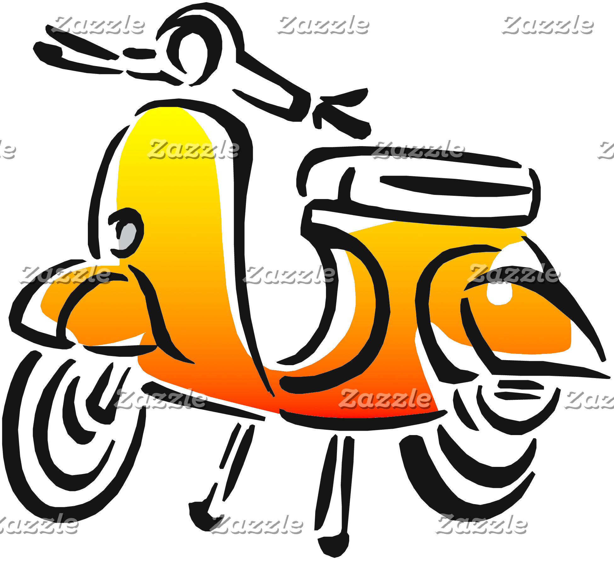 Gold Vintage Scooter