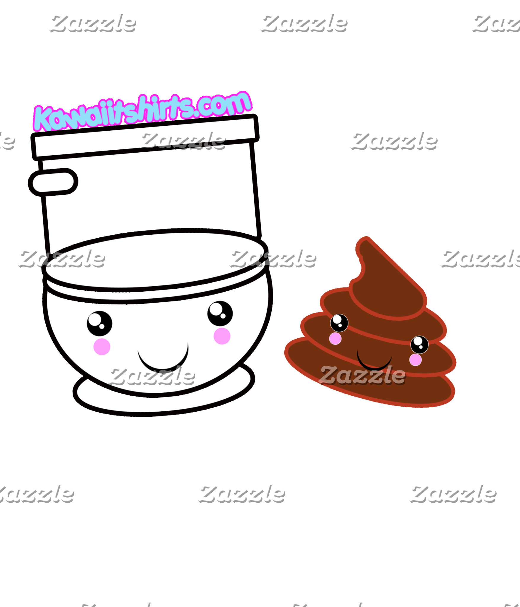 Loo & Poo cute Kawaii friends t-shirts & more