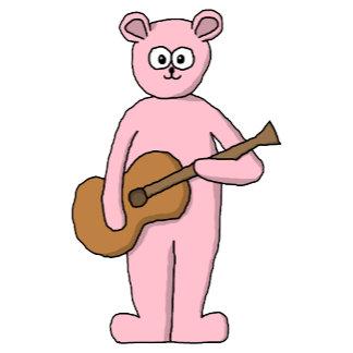 Pink guitar player bear.