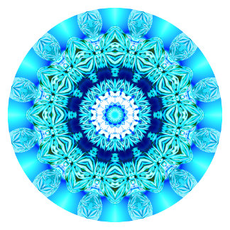 Blue Ice Lace Mandala