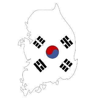 South Korea Flag Map full size