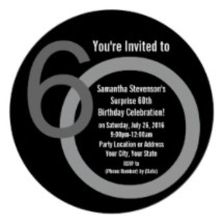 60th Birthday Party Invitations, Gifts, Decoration