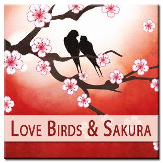 Love Birds and Sakura
