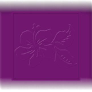 Eggplant Tone on Tone Hibiscus