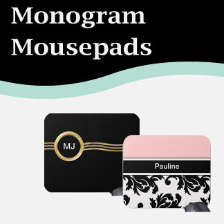 Monogram Mousepads