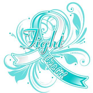Cervical Cancer Fight Like a Girl Flourish