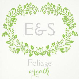 Foliage frame with monogram