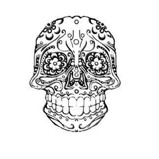 Single Color Classic Sugar Skull