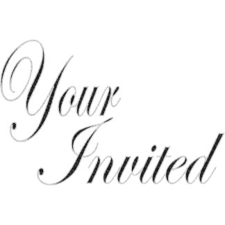 Invitations add your words
