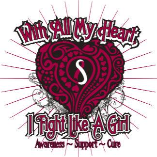 Head Neck Cancer Heart I Fight Like A Girl