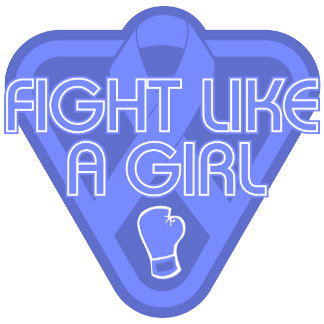 Stomach Cancer Fight Like A Girl Glove