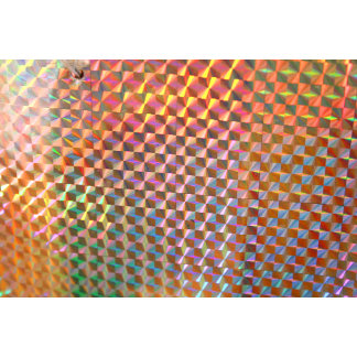 holographic metal photograph colorful design