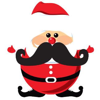 Mustache Santa Christmas T-shirts and Gifts