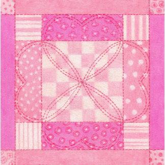 Pink Heart Quilt Block